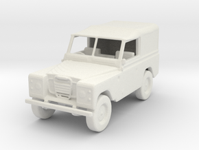 72 Scale Covered  in White Natural Versatile Plastic