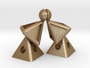 Pyramid Kiss mini in Matte Gold Steel