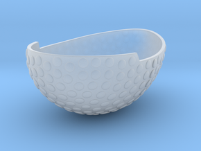Bowl1GeminiSTL3mm in Smooth Fine Detail Plastic