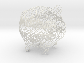 Macrame Small in White Natural Versatile Plastic