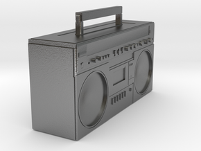 BOOMBOX in Natural Silver