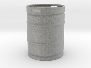 Keg in Metallic Plastic