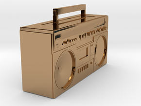 BOOMBOX in Polished Brass