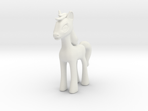 Cartoon Pony in White Natural Versatile Plastic
