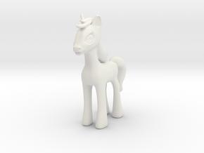 Cartoon Pony in White Natural Versatile Plastic