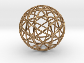 Star Cage: Sacred Geometry 12 Circles 40mm in Polished Brass