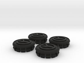 4 X Toyota Prius G3 Wheel Center Cap - Peace in Black Strong & Flexible