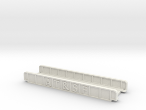 AT&SF 110mm Single Track in White Natural Versatile Plastic