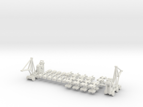 1/400 Aircraft Carrier Tractors in White Strong & Flexible