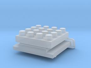 Nanobricks Hotshoe 4x4 in Smooth Fine Detail Plastic