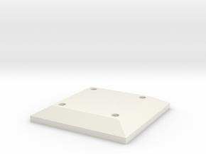 Belt Plaque 1 in White Natural Versatile Plastic