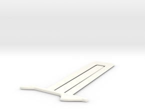 Shark Bookmark in White Strong & Flexible Polished