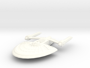 USS Niobe in White Strong & Flexible Polished
