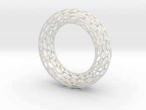 Cell Bracelet in White Strong & Flexible
