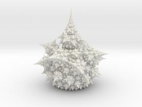Amazing Fractal Bulb 8.3cm in White Natural Versatile Plastic