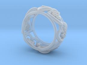 Anello Cuori Valentine in Smooth Fine Detail Plastic: Medium