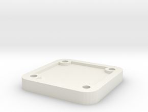 Belt Plaque 3 in White Natural Versatile Plastic
