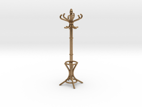 1:24 Miniature Coatrack in Natural Brass