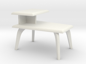 1:24 Moderne Wedge Side Table in White Natural Versatile Plastic
