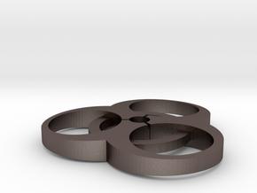 Bio-hazard Free in Polished Bronzed Silver Steel