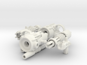 D.R.E.A.D Suppressor miniguns in White Natural Versatile Plastic