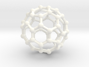 Buckyball Large in White Processed Versatile Plastic