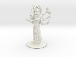 Lord Nrsimhadeva in White Natural Versatile Plastic