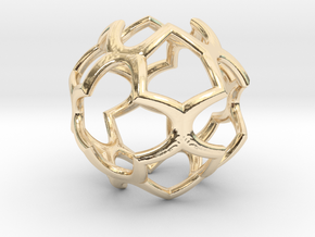 Cage Pendant Metal 30mm in 14K Yellow Gold