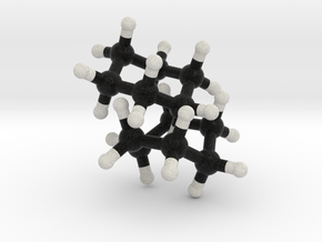 CycloHexane, 2 molecules, Boat and Chair form in Full Color Sandstone