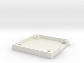 Naze32 rev5 case - bottom half in White Natural Versatile Plastic