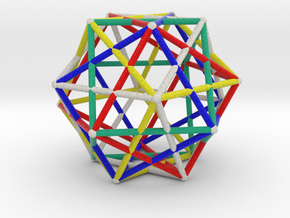 Star Cage Cubes 100mm Sacred Geometry in Full Color Sandstone