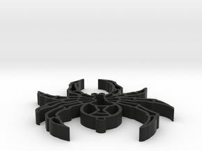widow keychain in Black Strong & Flexible