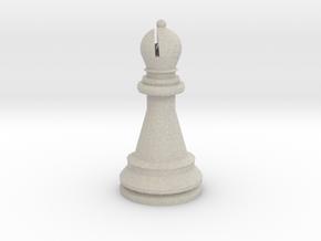 Large Staunton Bishop Chesspiece in Sandstone