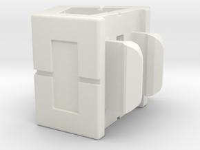 Rokenbok 60 Degree Block in White Strong & Flexible