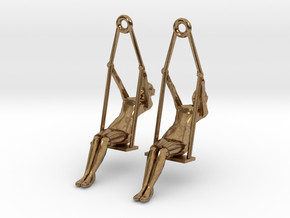 "earrings ""Swing girl"" in Natural Brass"