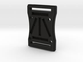 Tactical tritium Tag Holder in Black Natural Versatile Plastic