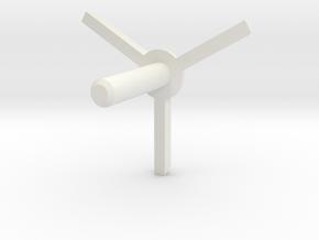 MBPI-A11-TRI2 in White Natural Versatile Plastic