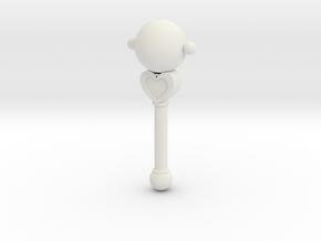 Pluto Transformation Rod in White Natural Versatile Plastic