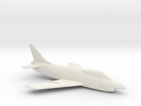 1:144 FIAT G.91  in White Natural Versatile Plastic