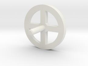 MBPI-A13-QUA in White Natural Versatile Plastic
