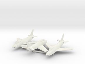 1:144 FIAT G.91 Triple pack in White Natural Versatile Plastic