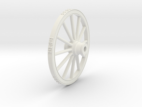 Wagon wheel 13.4cm in White Strong & Flexible