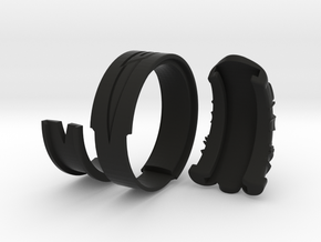 Vambrace Ring 9 in Black Natural Versatile Plastic