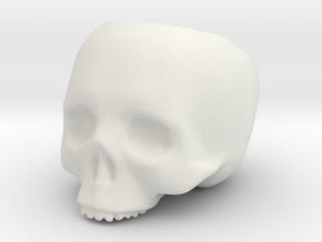 Skull Pot V3 - H60MM in White Natural Versatile Plastic
