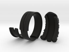 Vambrace Ring 8 in Black Strong & Flexible