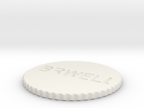 by kelecrea, engraved: BRWELLS20 COIN  in White Natural Versatile Plastic