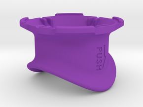 3D Printed Quad Lock Bike Mount Collars in Purple Processed Versatile Plastic
