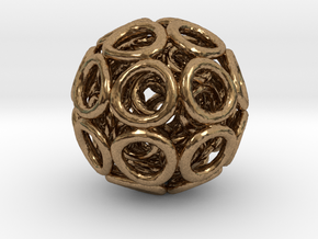 Hole Tri-ball in Natural Brass