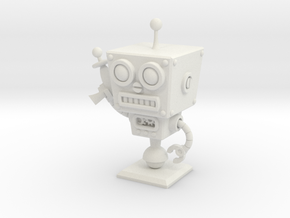 Cafe 51 - Sci-Fi Robot with Simple Base in White Natural Versatile Plastic