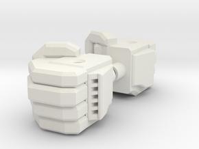 Kreon Combiner Fist in White Natural Versatile Plastic